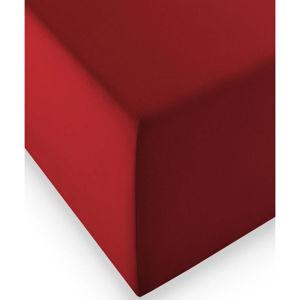 Fleuresse ELASTICKÉ PROSTĚRADLO, vínově červená, 200/200 cm - vínově červená