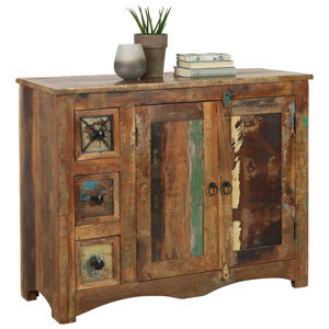 Ambia Home KOMODA, recyklované dřevo, vícebarevná - vícebarevná