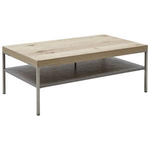 Moderano KONFERENČNÍ STOLEK, barvy dubu, rezavá, dřevo, kov, kompozitní dřevo, 110/42/65 cm - barvy dubu, rezavá