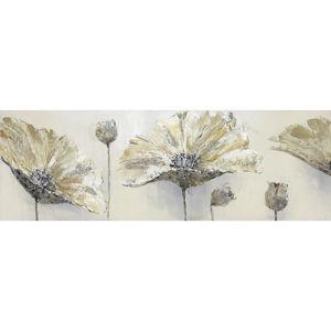 Monee OLEJOMALBA, květiny, 150/55 cm, - hnědá, šedá, bílá