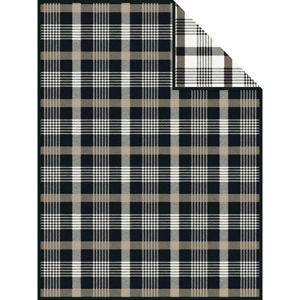 Novel PŘÍJEMNÁ DEKA, bavlna, 150/200 cm - hnědá, černá