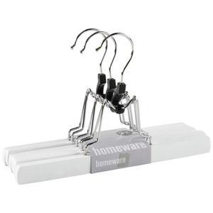 Homeware RAMÍNKO NA KALHOTY - barvy stříbra, bílá