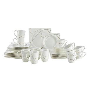 Ritzenhoff Breker KOMBINOVANÝ SERVIS, 36dílné, porcelán - hnědá, bílá