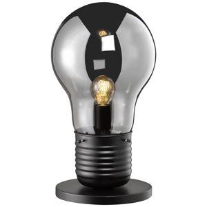 STOLNÍ LAMPA - černá, průhledné