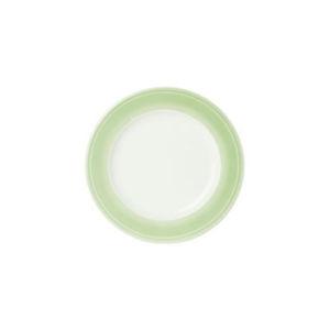 Novel DEZERTNÍ TALÍŘ, porcelán - bílá, světle zelená