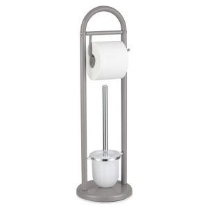 Sadena WC SADA - ŠTĚTKA A DRŽÁK - šedá, bílá