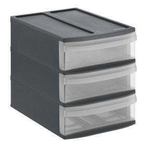 Rotho ZÁSUVKOVÝ BOX, umělá hmota, antracitová - antracitová