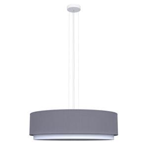 ZÁVĚSNÉ SVÍTIDLO, E27/60 W, 60/50/120 cm - barvy stříbra, bílá